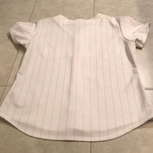 Majestic Other - Majestic pink Texas Rangers jersey